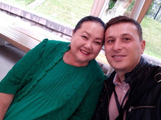 Селфи с Газизой Абдинабиевой