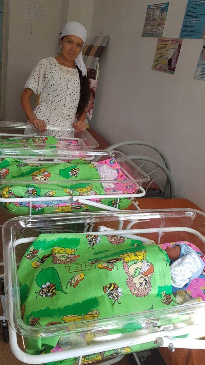 В Туркестанской области родилась первая тройня
