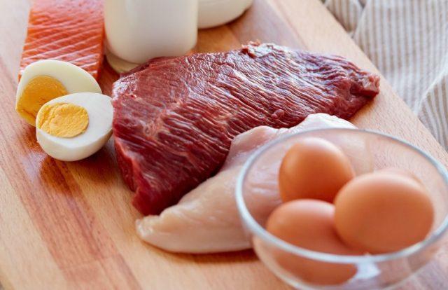 мясо яйца