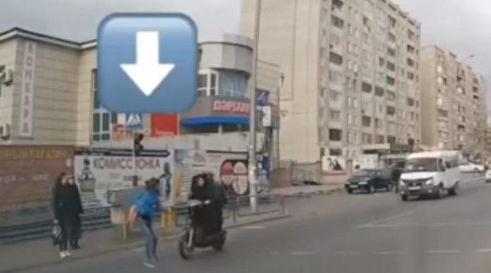 мотоциклист сбил пешехода