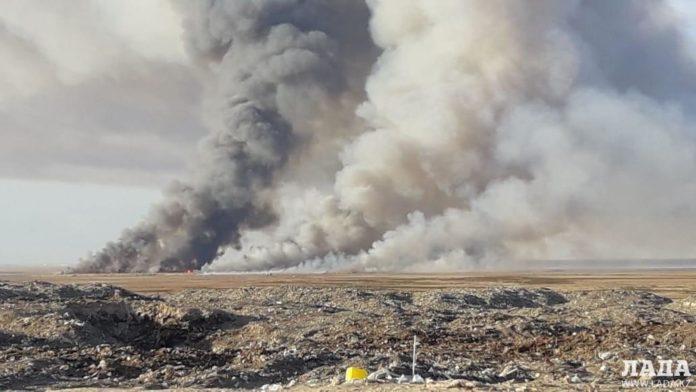 пожар в селе Баянды