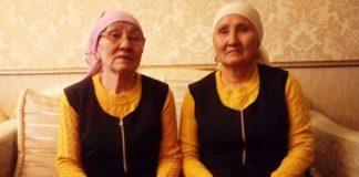 Бабушки-близнецы из Шымкента стали звездами Facebook