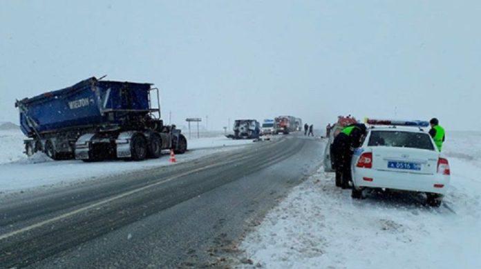 авария на трассе в Оренбургской области