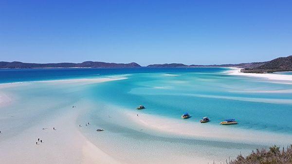 пляж Whitehaven на австралийском острове Уитсандей