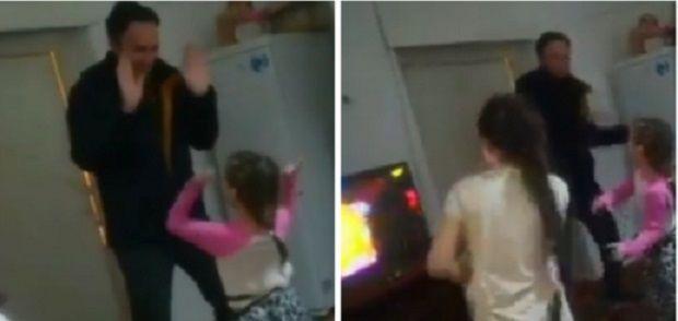 танец отца и детей