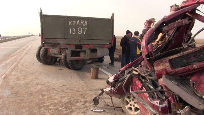 На трассе Западная Европа-Западный Китай в Туркестанском направлении произошло страшное ДТП: есть погибшие