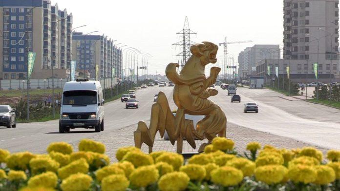 Проспект Нурсултана Назарбаева в Шымкенте