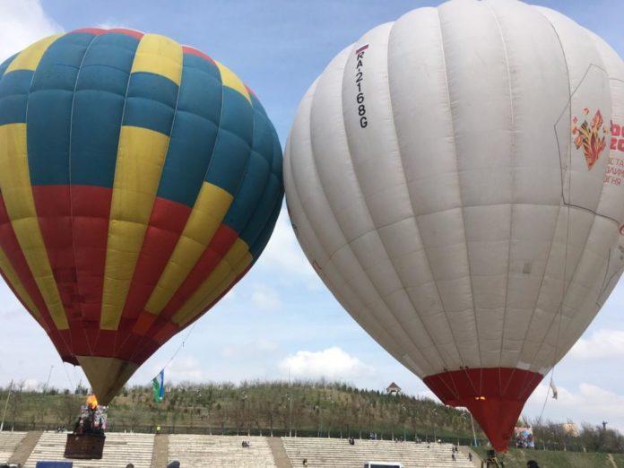 В Шымкенте прошел второй международный фестиваль воздухоплавателей «Ашык аспан»