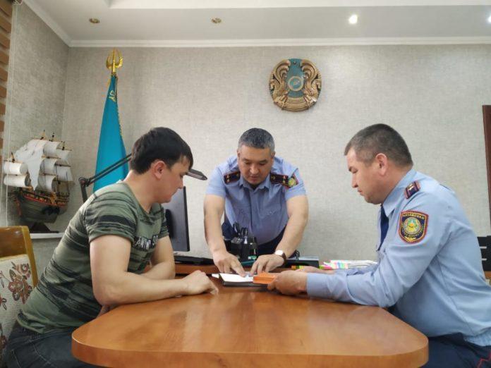 В Шымкенте полицейские пригласили танкиста на беседу