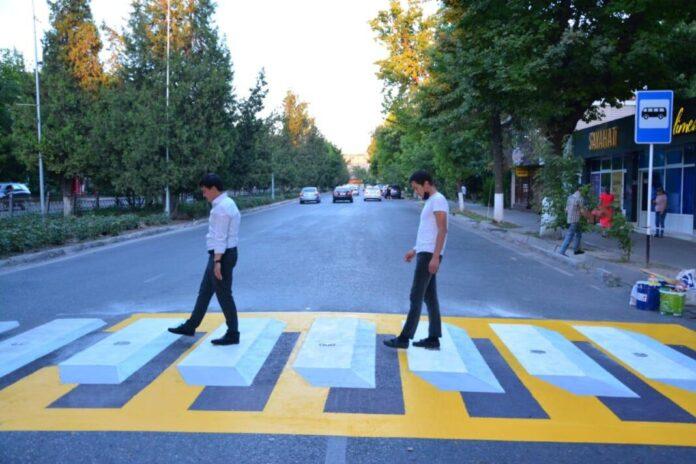 пешеходный переход в формате 3D