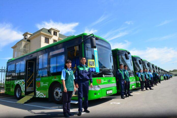 Первый муниципальный автобусный парк открыли в Шымкенте