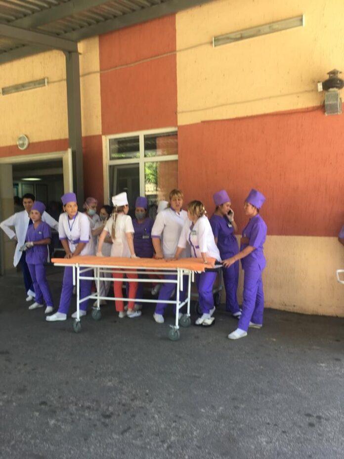 Госпитализация пострадавших от взрыва в Арыси