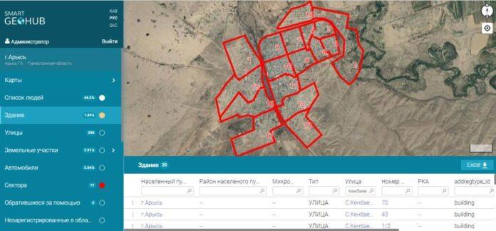 3D-карта города Арысь