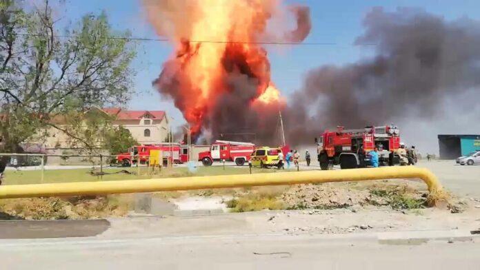 В Шымкенте произошел взрыв на газохранилище