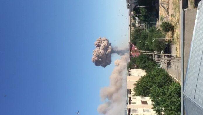 Взрыв на арсенале в Арыси