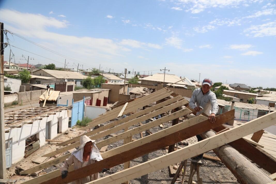 Около 1100 домов отремонтировали в Арыси
