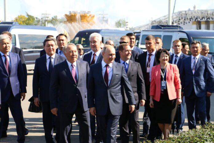 Нурсултан Назарбаев в Москве встретился с Владимиром Путиным