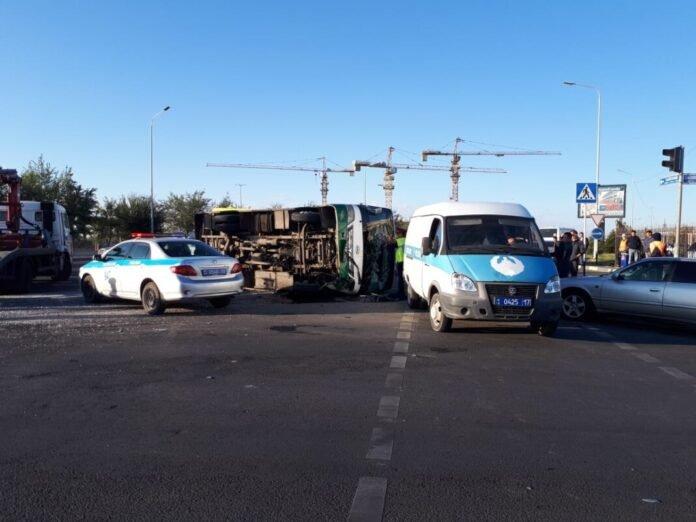 ДТП с участием автобуса по пр. Назарбаева