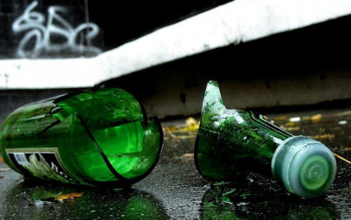 разбитая бутылка