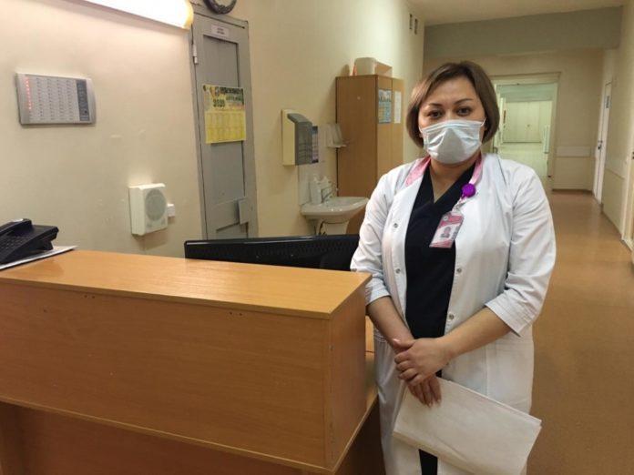 Врач-эпидемиолог Городской клинической больницы №7 Алматы Салтанат Умбеталиева