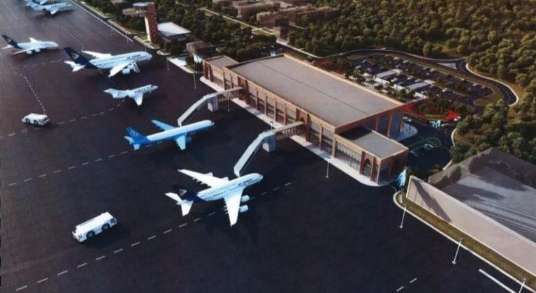 Макет международного аэропорта в Туркестане