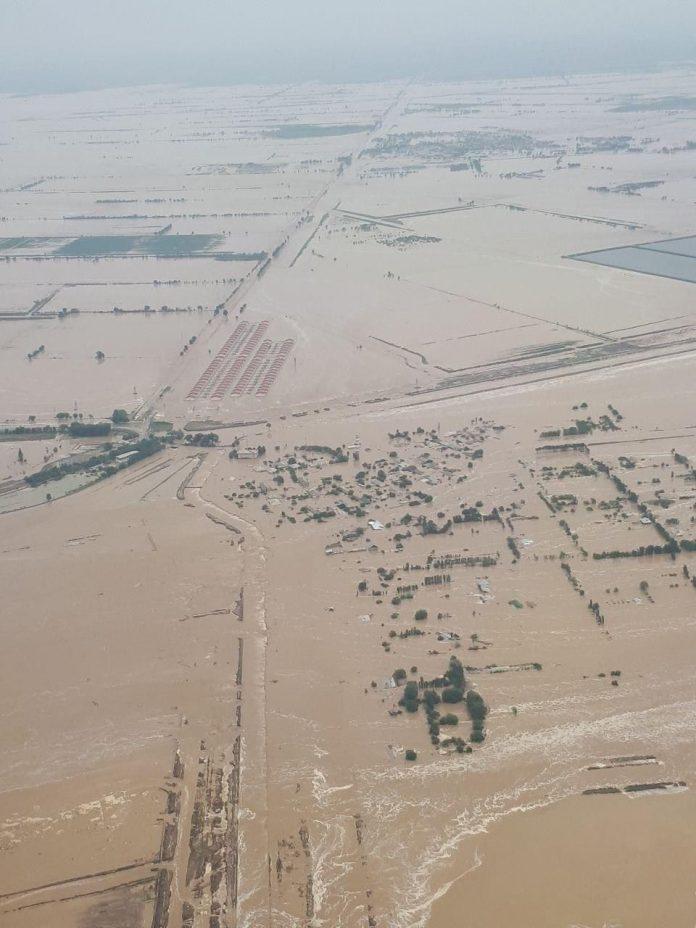 Потоп в Мактааральском районе из-за прорыва дамбы в Узбекистане