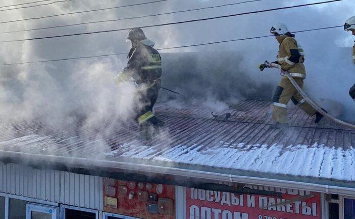 пожар в Жетысае