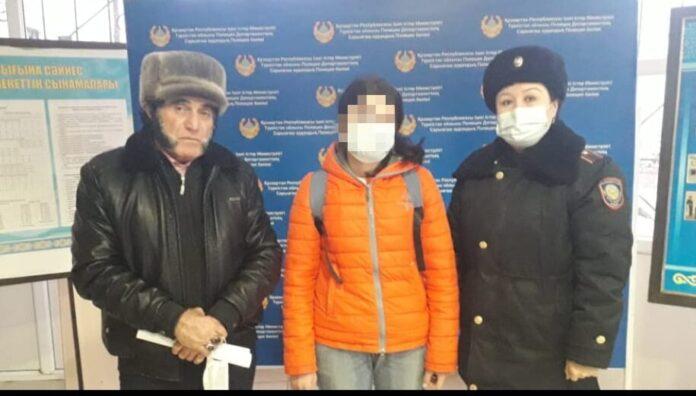 Полицейские Туркестанской области нашли пропавшую 16-летнюю девушку