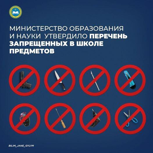 запрещенные предметы в школе